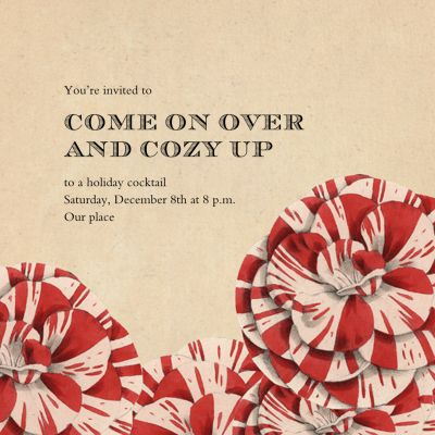 Striped Carnations - John Derian - Holiday invitations