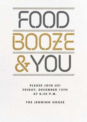Food Booze and You - Paperless Post